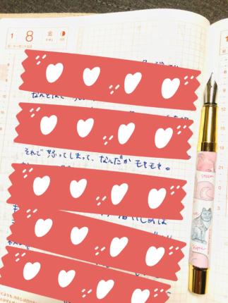 私が実際に毎日出来事や気持ちを書き出している手帳